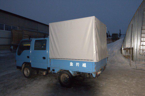 ПВХ-тент на грузопассажирский грузовик Toyota Dyna в Новосибирске