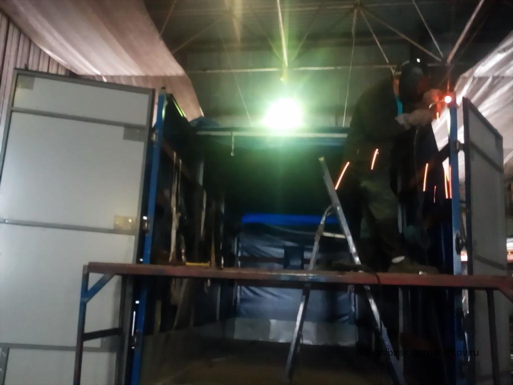 Переделка рамы ворот грузовика «Газель» под съемное ребро каркаса (портала)