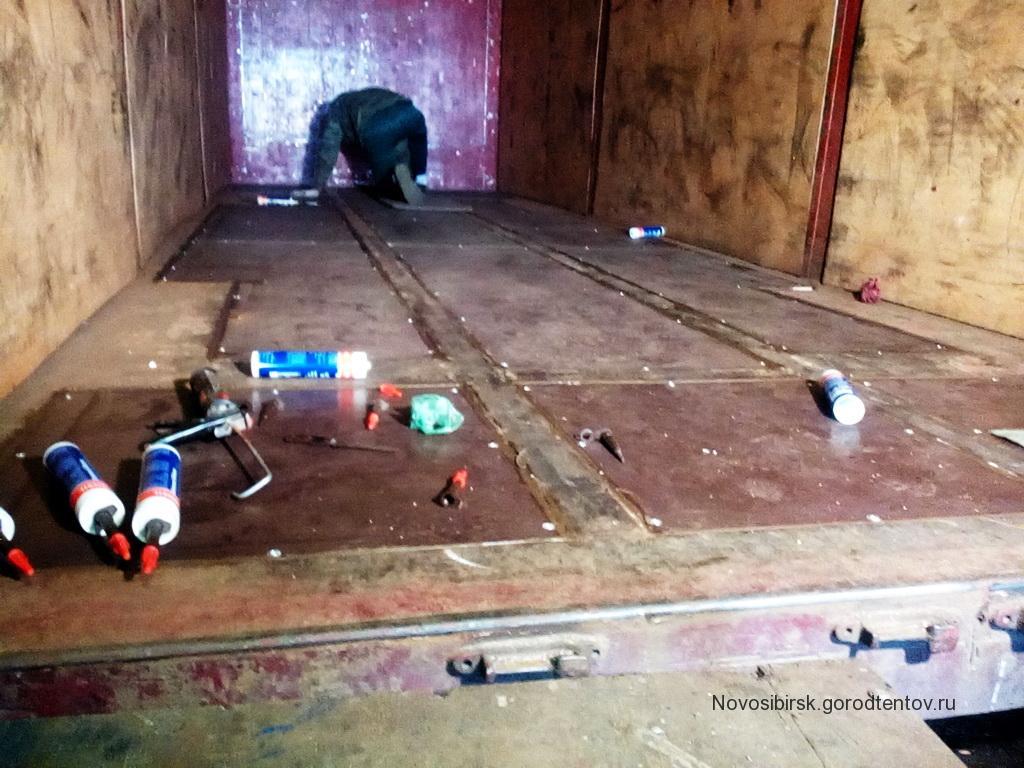 Ремонт полов грузовика «Man» в Новосибирске