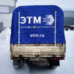 Печать на тенте грузовика