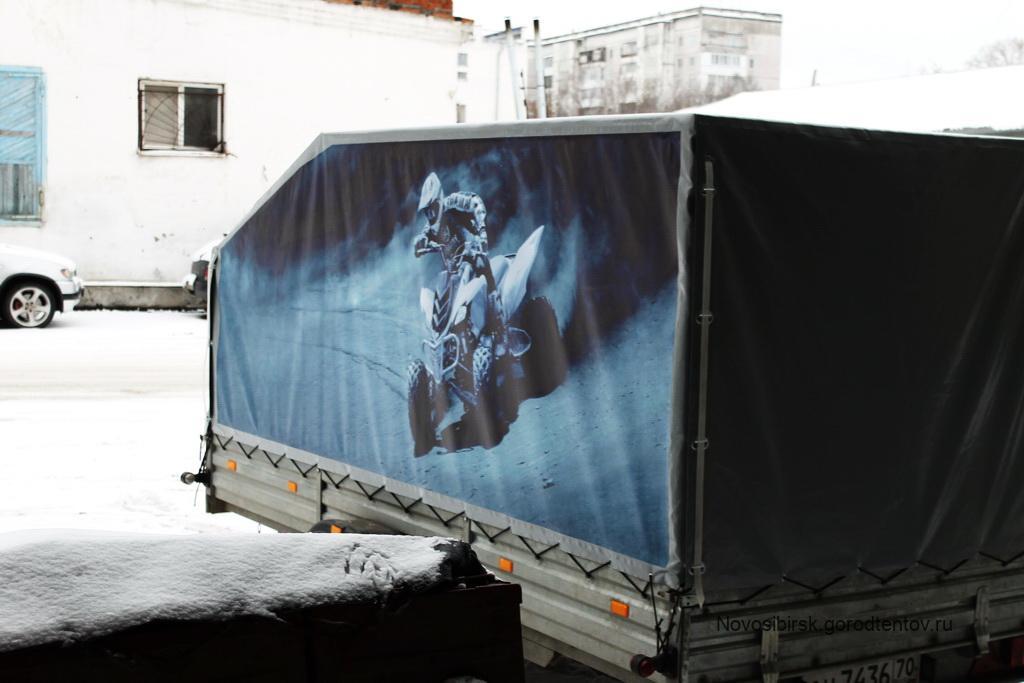 Тент с баннерами на прицеп МЗСА 817717.015